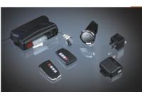 Universal 1-vägs billarm med start / stopp-knappen och 2 fjärrkontroller