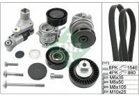 Water Pump + V-Ribbed Belt Kit 529 0053 30 Ina