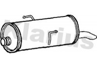 Exhaust backbox / end silencer