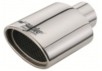 Exhaust Stainless Oval - Diameter 119x76mm - 7 inches / Inlet Dia. 55mm Simoni Racing