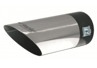 Exhaust Tip Round / Skewed Stainless - Diameter 60mm 7 inches / Inlet Dia. 35-60 mm Simoni Racing