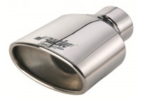 Exhaust Stainless Oval - Diameter 163x90mm - L184mm - Inlet Dia. 60mm Simoni Racing