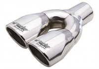 Exhaust Tip Dual Oval / Oblique SS - 86x63xL235mm - Inlet Dia. 34-57 mm Simoni Racing