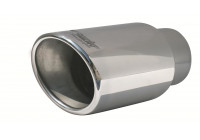 Exhaust Tip Oval / Oblique SS - Diameter 122x117mm - 8 inches / Inlet Dia. 77mm Simoni Racing