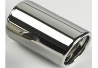 Exhaust Tip Round 80mm - 5 inches / Inlet Dia. 45-60mm - Stainless