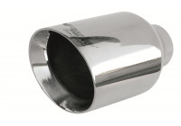 Exhaust Tip Round / Oblique SS - Diameter 114mm - 8 inches / Inlet Dia. 38 - 60mm Simoni Racing