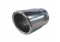 Exhaust Tip Round / Skewed Stainless - Diameter 76mm - L128mm - Inlet Dia. 68mm Simoni Racing