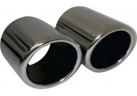 Exhaust trim for Audi // VW - Dual pipe - 73mm connection