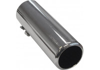 Tail Pipe Steel / Chrome - round 50mm - length 150mm - 44-47mm connection
