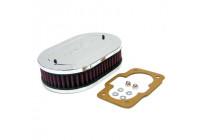K & N filter förgasare DDO 178 mm x 114 mm oval 45mm Höjd (56-1110)
