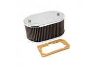 K & N filter förgasare DDO 178 mm x 114 mm oval 83mm Höjd (56-1080)