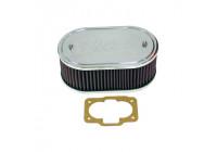 K & N filter förgasare DDO 229mm x 140mm oval 83mm Höjd (56-1130)