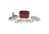 K & N filter förgasare DDO 229x140mm oval 114mm Höjd (56-1220)