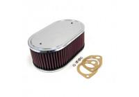 K & N filter förgasare SDO 229x140mm oval 83mm Höjd (56-1360)