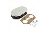 K & N filter förgasare DDO 178 mm x 114 mm oval 45mm Höjd (56-1160)