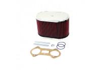 K & N filter förgasare DDO 229x140mm oval 140mm Höjd (56-1230)