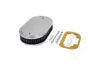 K & N filter förgasare DDO 229x140mm oval 45mm Höjd (56-1070)