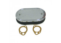 K & N filter förgasare SDO 229x140mm oval 45mm Höjd (56-1330)
