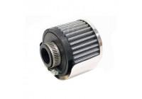 K & N Filter 25mm breatherpipe med sköld (62-1511)