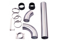 Universal Air Filter Tubing Set Anodiserad Aluminium 76mm