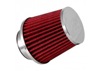 K&N RG-Series universal replacement filter with 3 connection diameters - Length 114mm - Red (RG-1003RD-L