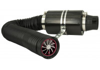 Universal Air Filter System Carbon Incl. 1m Hose / Turbo / 2 Adapters 76mm / 63.5mm