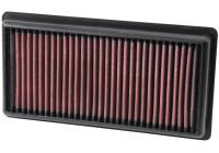 K&N vervangingsfilter 108/208/2008/308 + Citroën C1/C3/C4/Cactus/C-Elysee/DS3 2012- (33-3006) 33-3006