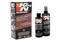 K&N vervangingsfilter Recharger Kit / met knijpfles olie (99-5050) KN 995050