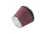 K&N universeel conisch filter 70mm aansluiting, 129mm Bodem, 89mm Top, 102mm Hoogte (RC-5128)