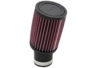K&N universeel cilindrisch filter 52mm 17 graden aansluiting, 89mm uitwendig, 127mm Hoogte (RU-1780)