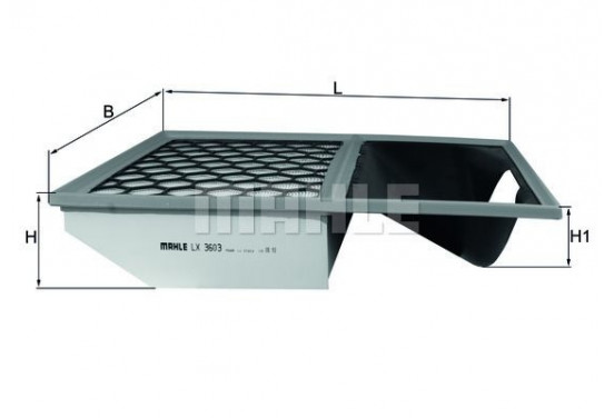 Luchtfilter LX 3603 Mahle