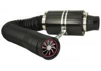 Système de filtre à air universel en carbone avec tuyau de 1 m / Turbo / 2 adaptateurs 76mm / 63.5mm