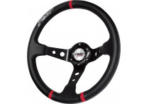 Simoni Racing Sportstuur Gravel 350mm - Zwart Eco-Leder (Deep Dish)