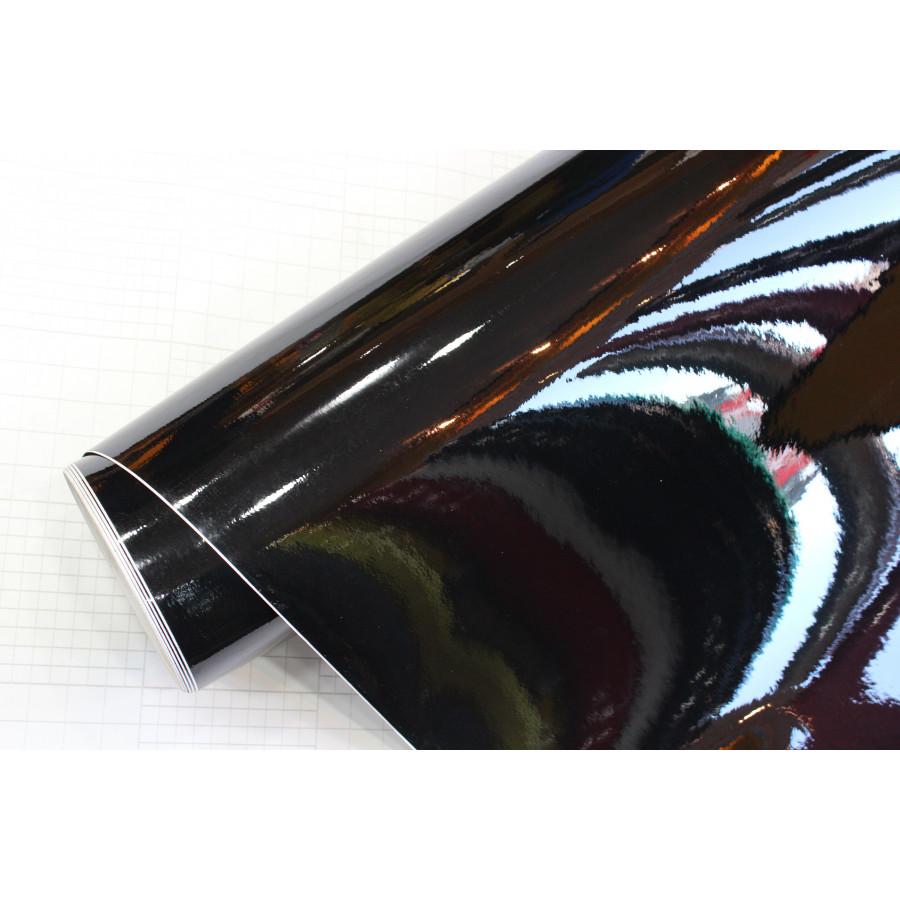 car wrapping folie 152x200cm glanzend zwart zelfklevend wrap folie