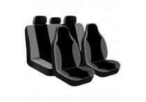 Stoelhoezenset 'Street Racer High' Zwart / Grijs (9-delig) (ook geschikt voor Side-Airbags)