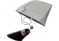 100% Koper Antenne 'Genuine SharkFin' - chroom
