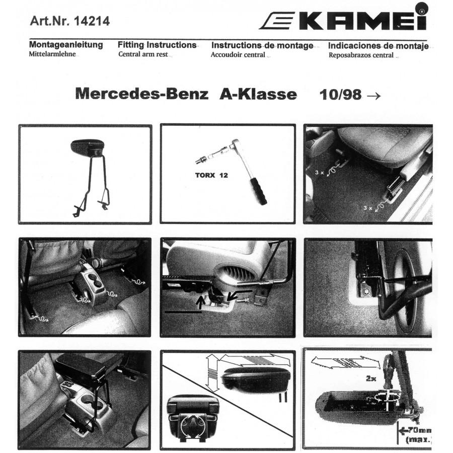 armsteun mercedes a klasse w168 10 1998 08 2004 lederen. Black Bedroom Furniture Sets. Home Design Ideas
