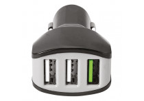 Celly Autolader 3 USB 4.4A zwart