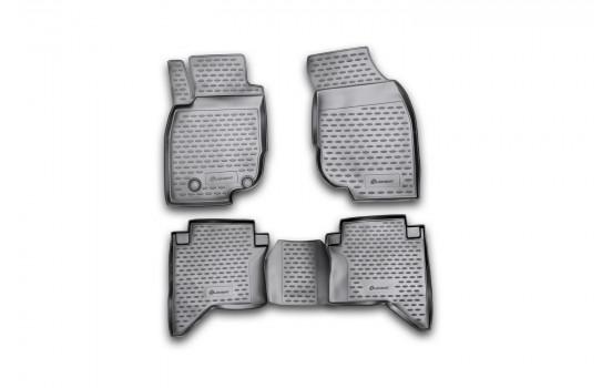 Rubbermatten voor Toyota Hilux, 2011-> 4 delig.