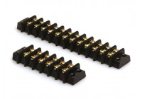 Distributieblok, 4mm2 > 6,3mm, 2x12 aansluitingen