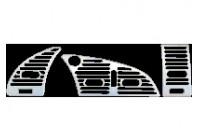 Luchtroosters Ringen chroom Citroën Xsara 3pcs/set