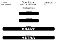 Prewoodec Deurlijsten Opel Astra G 1998-2004 4-deurs - Aluminium