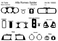 Prewoodec Interieurset Alfa Romeo Spider/GTV 3/1995- 18-delig - Carbon-Look