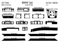 Prewoodec Interieurset BMW 3-Serie E46 4/1998- 25-delig - Aluminium