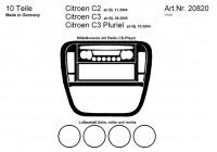 Prewoodec Interieurset Citroën C2/C3 incl. Radio CD 10-delig - Aluminium