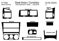 Prewoodec Interieurset Seat Ibiza/Cordoba 6K2 8/1999-2002 excl. Radio 9-delig - Aluminium