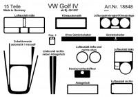 Prewoodec Interieurset Volkswagen Golf IV 9/1997- 14-delig - Aluminium