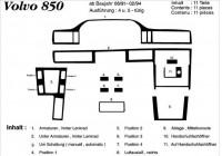 Prewoodec Interieurset Volvo 850 10/1991-2/1997 11-delig - Wortelnoot