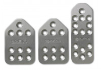 Sparco Set sportpedalen 'Piuma' - Mat Aluminium - Handgeschakeld