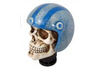 Simoni Racing Pookknop Skull + Blauwe Helm